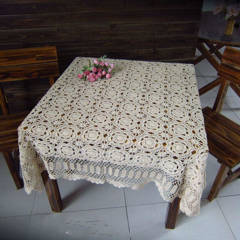 63x63 Quot 160x160cm Vintage Handmade Crocheted Tablecloths