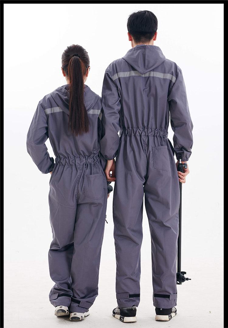 ... CCGK Work Clothing Hooded Overalls Men Women Long Sleeve Coveralls  Reflective Stripe Repairman Machine Welding Worker ... 0f29870adfb