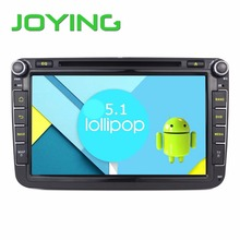 Joying 8″ Quad Core 1024*600 Android 5.1.1 Car DVD Player GPS Navigation For VW Skoda POLO PASSAT B6 CC TIGUAN GOLF 5 Fabia