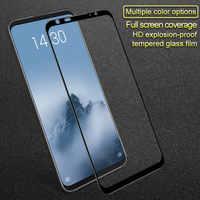 IMAK Meizu 16 Tempered Glass Meizu 16th Glass 9H 2.5D Full Cover Screen Protector For Meizu 16th Plus Protective Glass