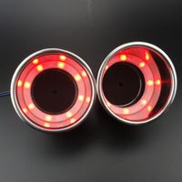 2PCS Stainless Steel 12V 8 Red LED Cup Drink Holder for Marine Boat Car Truck