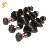 AOSUN HAIR Malaysian Hair Extension Loose Wave 3PCS 100% Remy Human Hair Bundles 10 26 inch Can Be Dyed Beached and Restyled