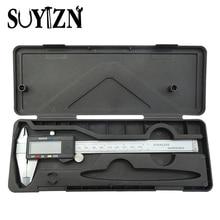 Cheap price SUYIZN Digital Vernier Caliper 150mm Stainless Steel Electronic Vernier Calipers LCD Paquimetro Micrometer Caliper Rule Gift Box