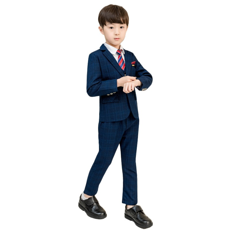 eaf450c3b12d8 Boy Suit Formal 5Pcs set Children Clothes Sets Boy Terno Infantil Costume  Enfant Garcon Mariage Boys Suits for Wedding H491
