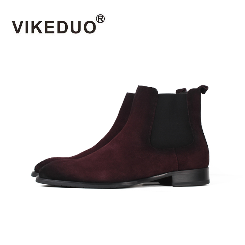 Vikeduo 2018 Handmade Tactical Boot Military Fashion Casual Luxury Heel Ankle Elegant Genuine Leather Snow Winter Fur Men Boots vikeduo 2018 classic custom handmade fashion luxury office genuine leather boots designer winter snow crocodile dress men boots
