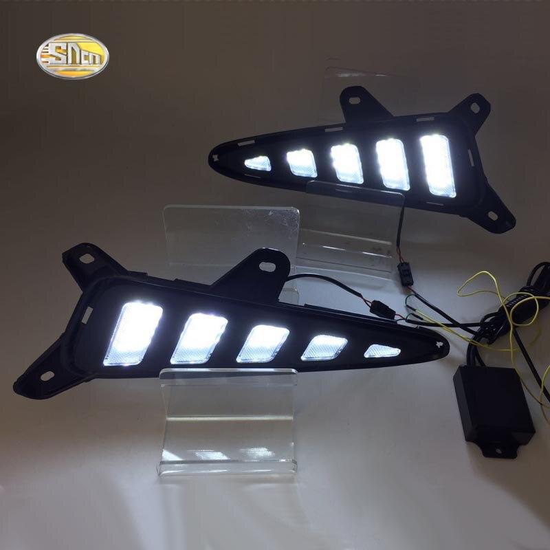 SNCN светодиодными фарами дневного света для Toyota с-HR ЧР противотуманная фара DRL с желтый сигнал поворота лампы