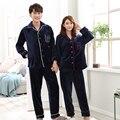 QWEEK Winter Mens Sleepwear Flannel Couples Pijama Long Sleeve Male Pajamas Sets Pyjamas Men High Quality Homewear Soft 2 Piece