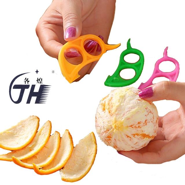 Éplucheur en plastique oranges Zesters citron pamplemousse   Dissolvant de peau, trancheur Gadgets de cuisine, outils pour fruits 2 pièces