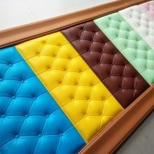3D Sticker for Wall DIY Foam Soft Bag tiles Panels Home Decor Leather Waterproof Self adhesive Wallpaper kids room 30*60cm