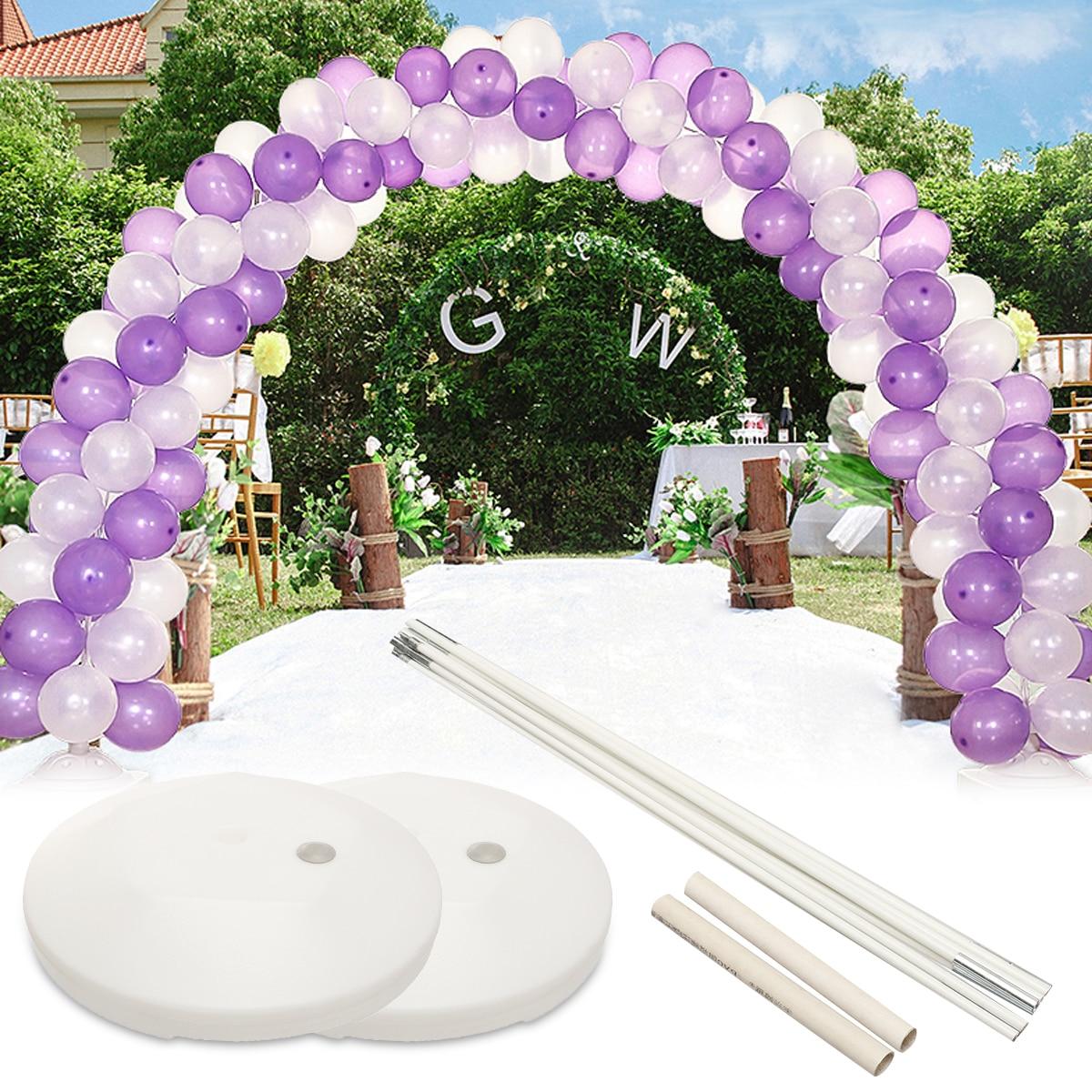 1 ensemble bricolage bricolage ballon arche cadre colonne Base d'eau support Kit mariage fête d'anniversaire décor