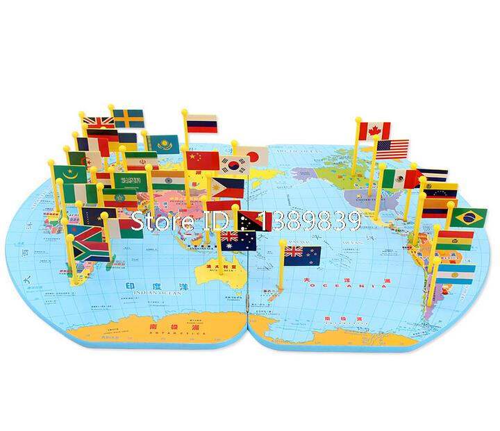 Free shipping children educational toys world map flag classical free shipping children educational toys world map flag classical baby wooden puzzle building wooden toys for kids in puzzles from toys hobbies on gumiabroncs Gallery