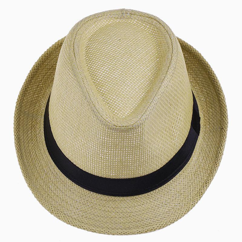 LNPBD Hot Unisex Mulheres Homens Moda Verão Praia masculino Na Moda Casual  Sun chapéu de Palha Panamá Jazz Chapéu de Cowboy Fedora Gangster Cap ce7855e39e
