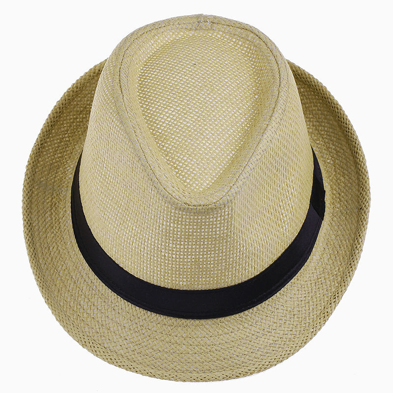 LNPBD Hot Unisex Women Men Fashion Summer Casual Trendy Beach Sun Straw Panama Jazz Hat Cowboy Fedora Hat Gangster Cap