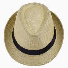 LNPBD Hot Unisex Vrouwen Mannen Mode Zomer Casual Beach Trendy Zon Straw Panama Jazz Hoed Cowboy Fedora hoed Gangster Cap(China)
