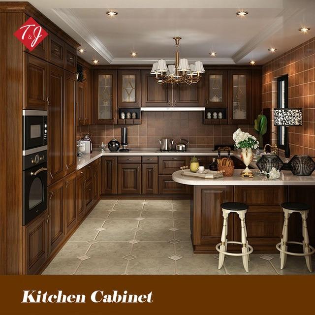 Disegno libero stile classico antico armadio da cucina in legno ...