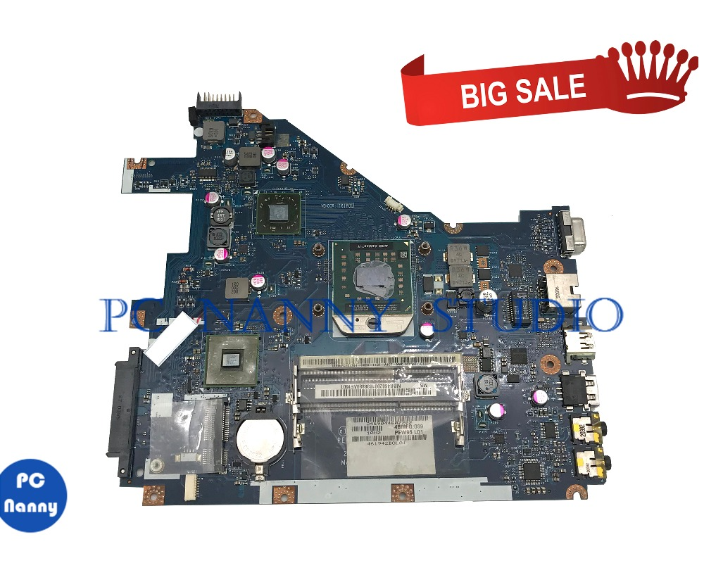 PANANNY For ACER Aspire 5552 NV50A MBR4602001 PEW96 LA-6552P MOTHERBOARD MB.R4602.001 DDR3 With Cpu Tested