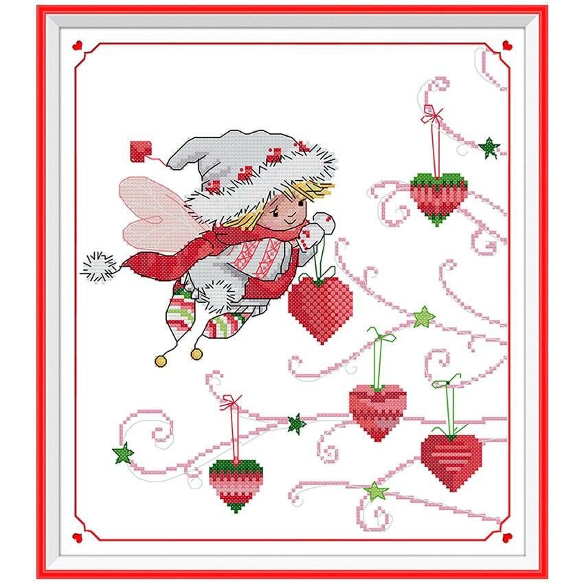 Die Weihnachtsgeschenke Geist Muster Gezählt Kreuzstich 11CT 14CT ...