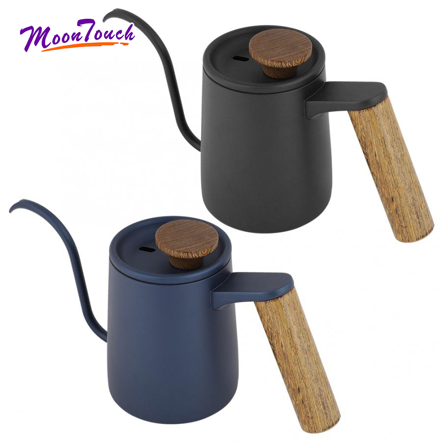 600ml Stainless Steel Brew Coffee Pot Hand Drip Kettle Tea Pot Small Mouth Barista Coffee Tool