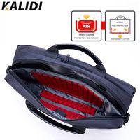 KALIDI 15 inch Business Bag Handbag Men Briefcase Laptop Shoulder Messenger Bag For Mackbook 13.3 15.6 inch Notebook Laptop Bag