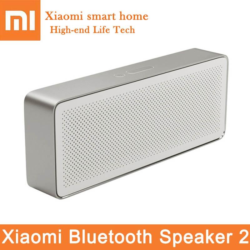 Original Xiaomi Bluetooth haut-parleur 2 Portable boîte carrée Bluetooth V4.2 stéréo HD qualité du son jouer musique micro haut-parleur sans fil