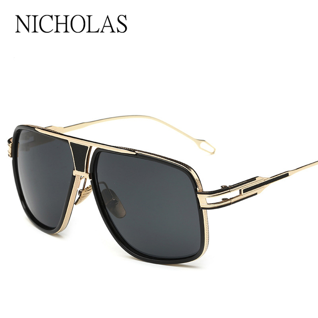 173f23160ddac Oversized Retro Casal Sunglasses Men Women Brand Designer Male Female  Mirror Sun glasses Ladies Eyewear Oculos De Sol Feminino