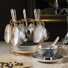 Creative vintage Coffee cups set Saucer spoon Phnom Penh Bone China British porcelain tea cup Teatime Afternoon Tea party