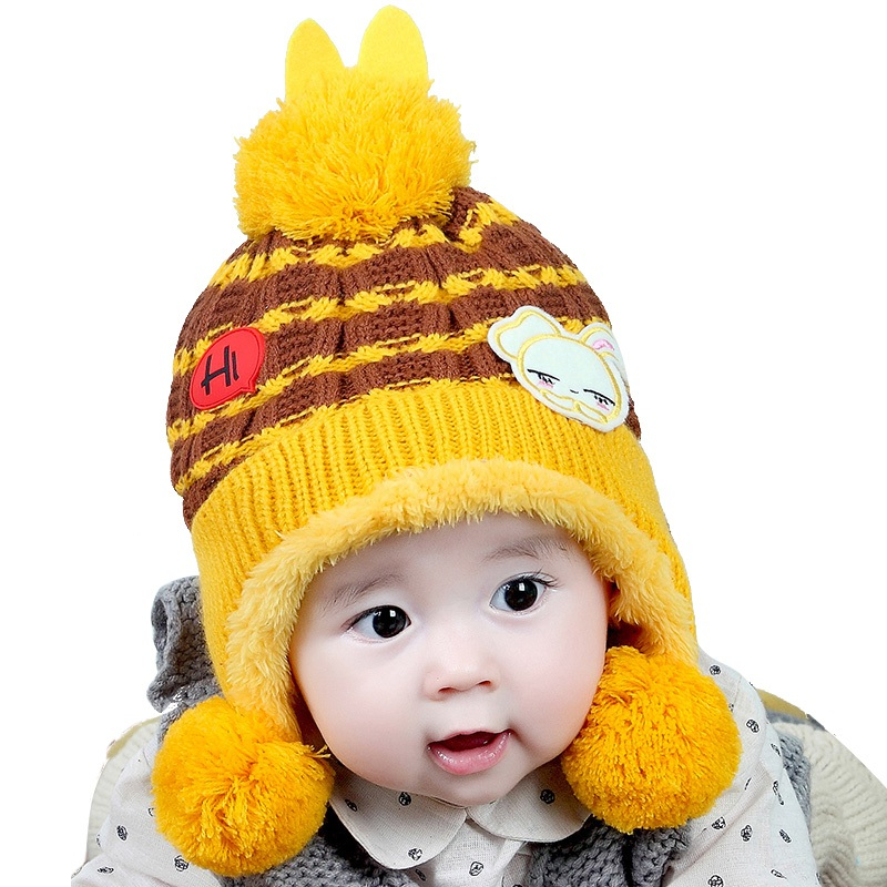 Baby Winter Hat Toddlers Warm Hat Beanie Cap Baby Lovely Hats Infant Toddler Girl Boy Beanie Knit Caps