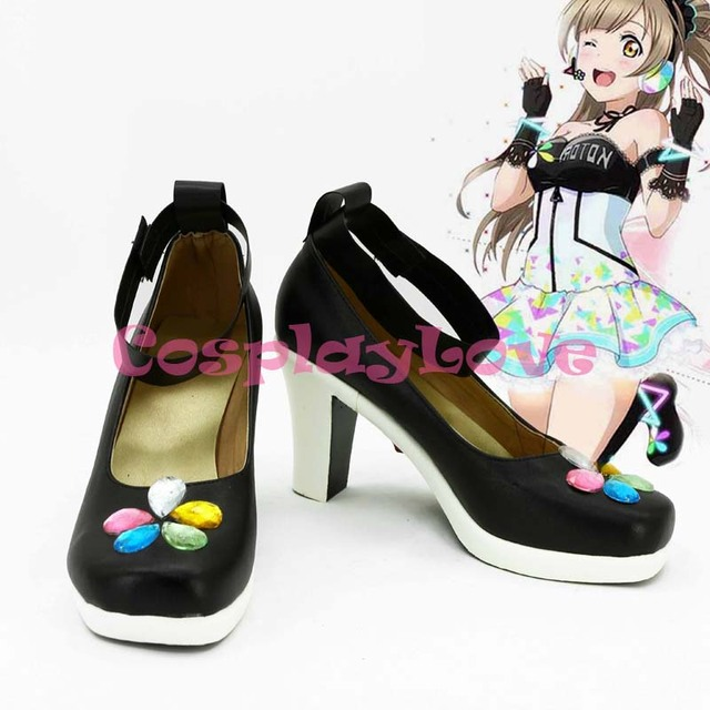 Newest Custom Made Japanese Anime lovelive! Minami Kotori Singer Cosplay  Shoes Long Boots For Halloween