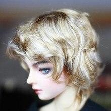 BJD кукольные парики Смешанные золотые имитация мохера маленькие кудрявые короткие парики для 1/3 BJD DD SD кукла супер мягкие волосы куклы аксессуары