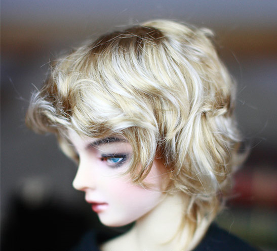 BJD Doll Hair Wigs Mixed Golden Imitation Mohair Small Curly Short Wigs For 1/3 BJD DD SD Doll Super Soft Hair Doll Accessories