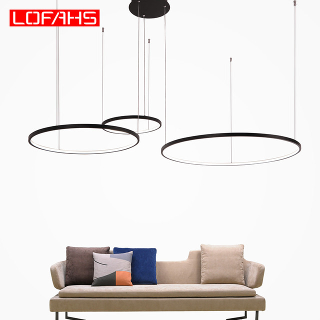 New modern led chandelier for living room bedroom dining room aluminum Ring Indoor Pendant chandelier lamp lighting fixtur 1