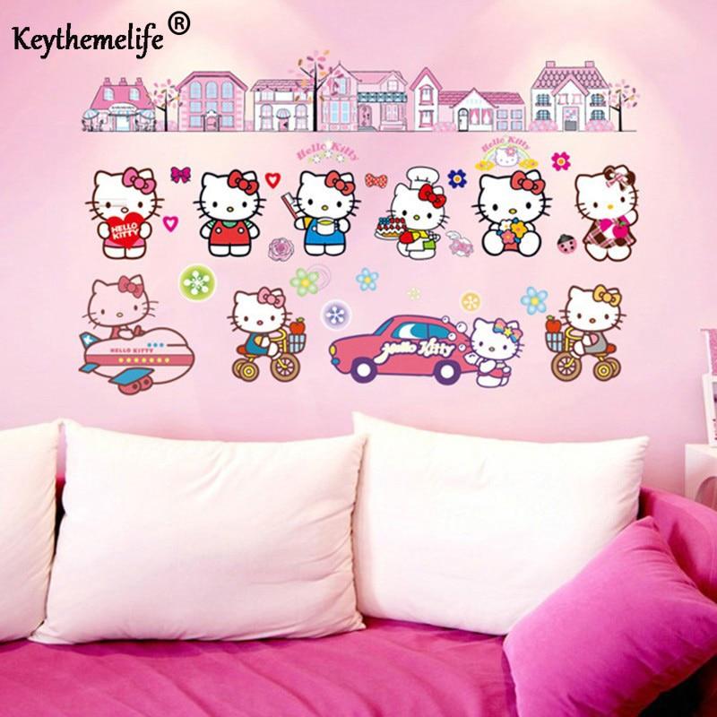Hello Kitty Home Decor: Keythemelife Lovely Hello Kitty Wall Sticker Cartoon PVC