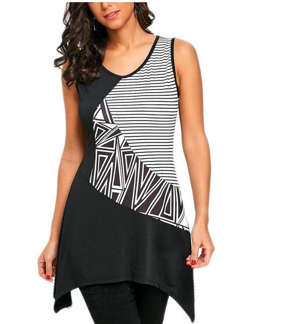 2926346479509 Crown   Ivy Plus Size Stripe Swing Tee Navy white Women Clothing Tops  Source · New Women T Shirts Black White Striped Long Tops Sexy Print