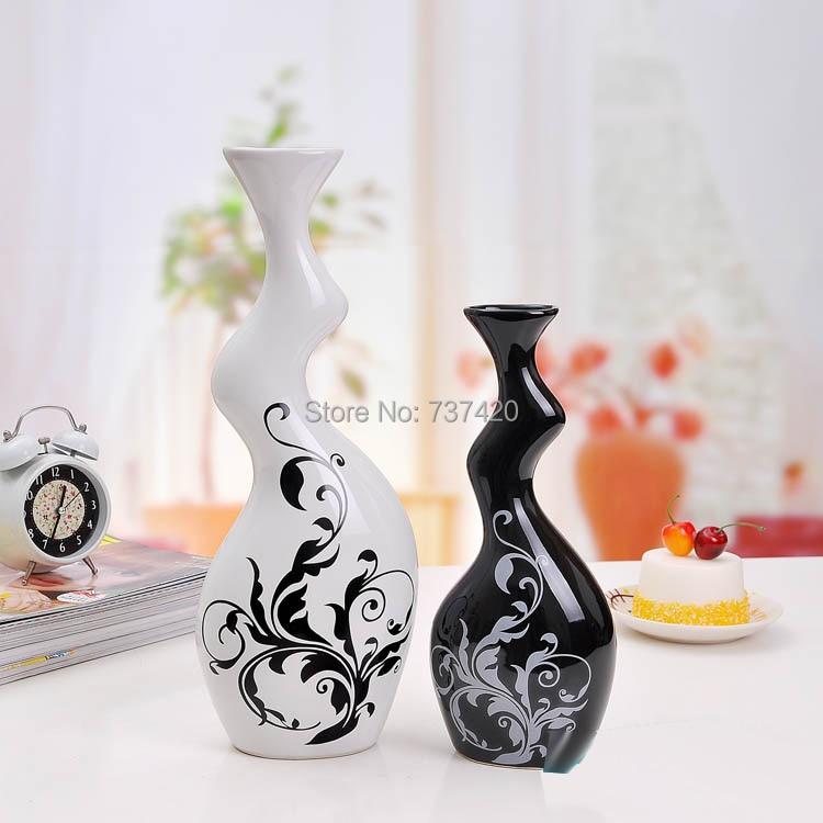Achetez en gros noir vase en c ramique en ligne des for Big pot painting designs