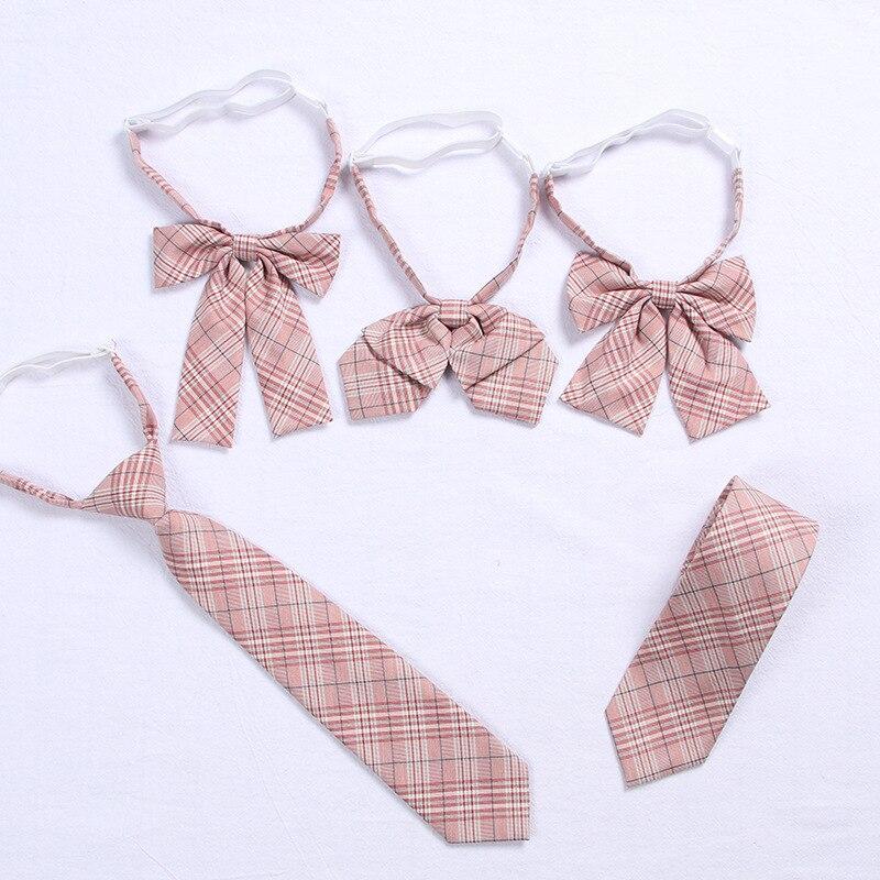 2019 Pink Jk Uniform Bow Tie Cute Japanese/korean School Uniform Accessories Bow-knot Tie Design Knot Cravat Necktie Adjustable
