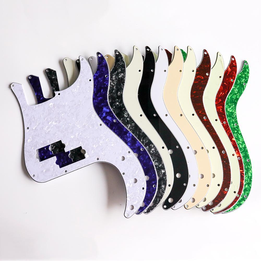 Musiclily 13 Buraco P Baixo Pickguard para Fender String 4 Americano/Mexicano Standard Precision Bass