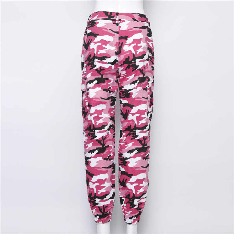4510382d09 ... Women Loose Baggy Trousers Fashion 2018 Spring Pink Camouflage Printed  Joggers Sweatpants Pants Hiphop Dance Pants