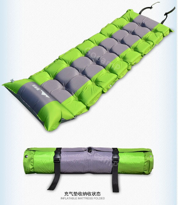 ФОТО Thick automatic inflatable dampproof camping mat outdoor tent mattress portable size ground sheet hot sale ground sheet cusion