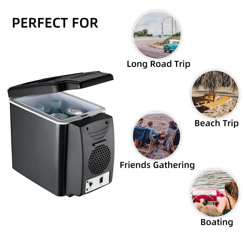 1PC Blue 7.5L Mini Car Refrigerator Multi-Function Home Travel Vehicular Fridge
