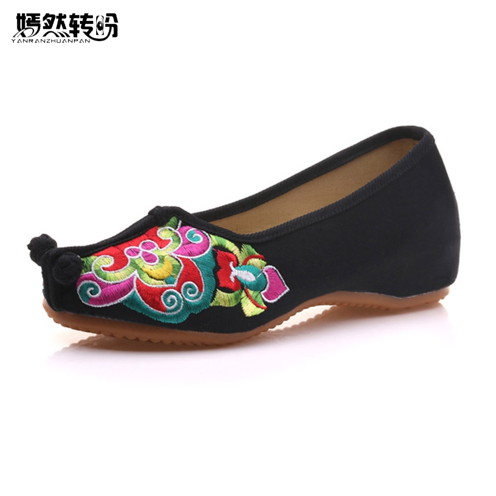 Chinese Women Flats Shoes flowers Casual Embroidery Soft Sole Cloth Dance Ballet Flat Shoes Woman Breathable Zapatos Mujer chinese women flats shoes flowers casual embroidery soft sole cloth dance ballet flat shoes woman breathable zapatos mujer