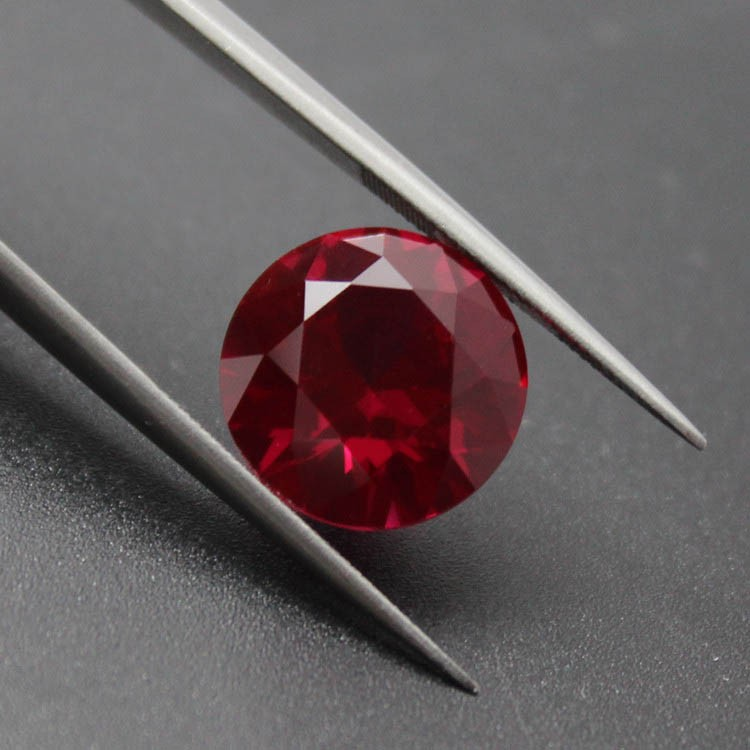 round shape red stone beads jewellery bright cutting AAAAA loose stones in jewelry making diy