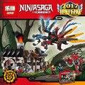 LEPIN Ninjagoed Serie Dragones Forja Modelo Building Blocks Ladrillos Ninja Niños Juguetes Marvel Compatible Legoe