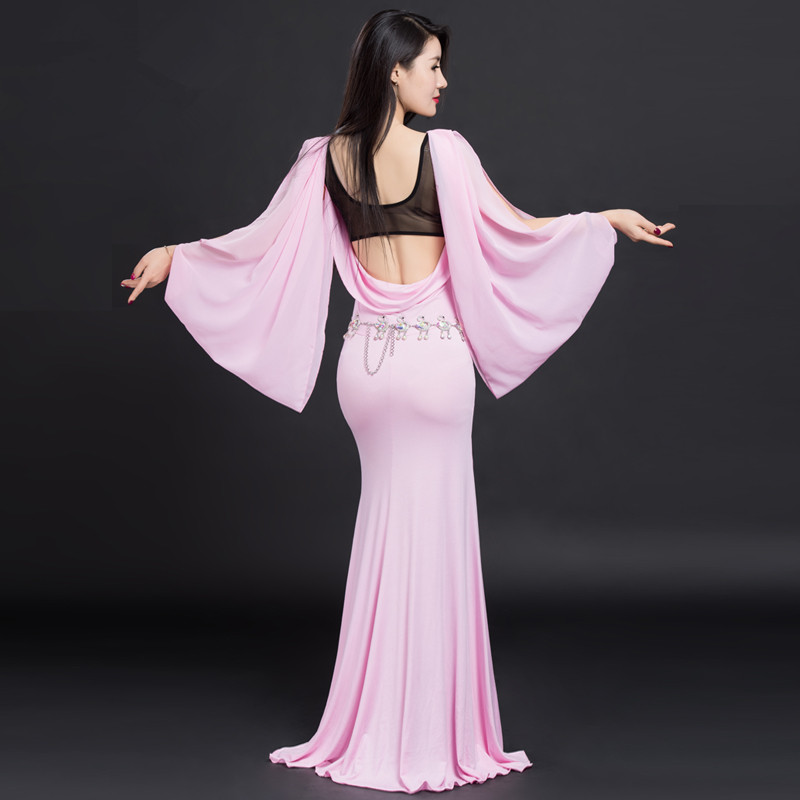 Bellydance oriental Belly baladi Indian eastern Egyptian hair swinging dance dancing costumes bra belt skirt dress robe set 3007