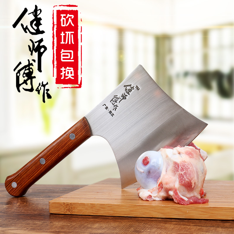 GTJ Forged Cut Bone Axe Kitchen Chop Bone Knife Hotel Slaughter Chef Professional Handmade Chopper Stainless