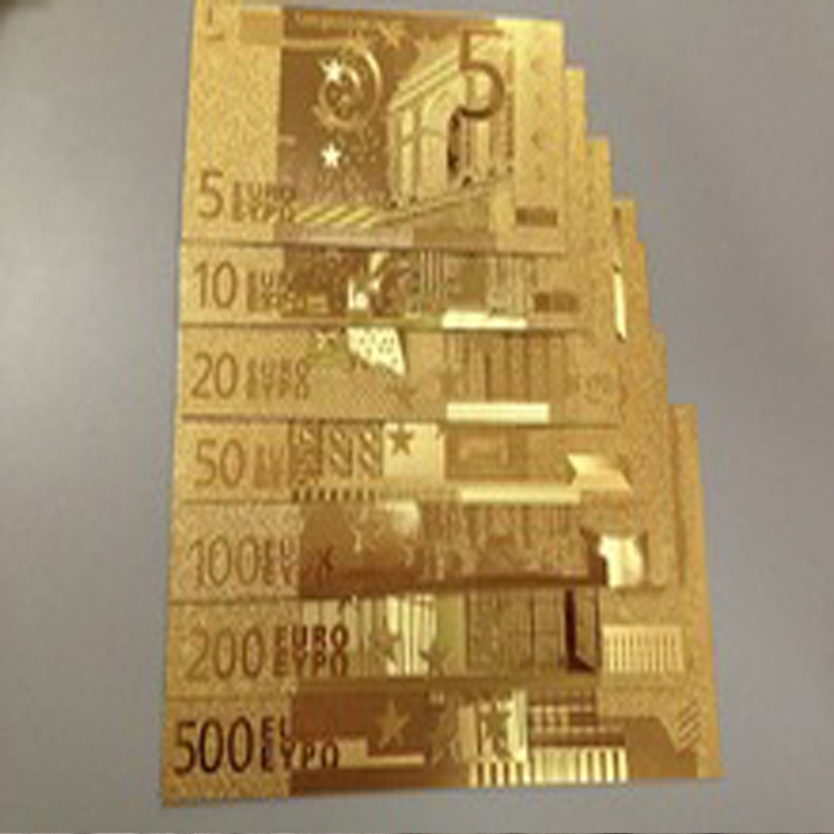 24k Gold Foil Banknotes Europe 5 10 20 50 100 200 500 Bill World Paper Money Collections Make Money Selling Vintage Home Decor