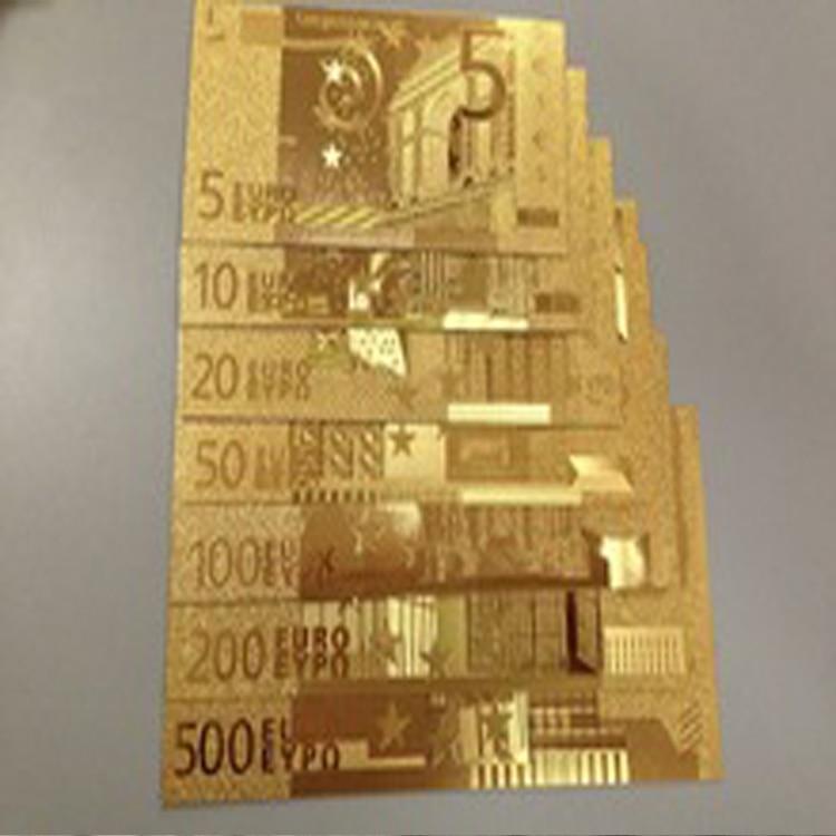 24k Gold Foil Banknotes Europe 5 10 20 50 100 200 500 Bill World Paper Money Collections Make Money Selling Vintage Home Decor