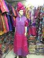 Африканские Традиционные Materia с Изысканным Базен Вышивка для Женщин (Бесплатная Доставка) S2433