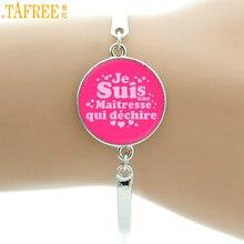TAFREE – bracelet de style français pour enseignants, bijoux, je suis une maîtresse