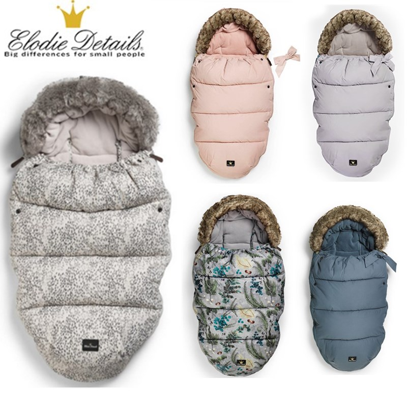 elodie details Baby stroller down sleeping bag stroller accessories for baby, stroller footmuff warmly sleep sack free shippping цены