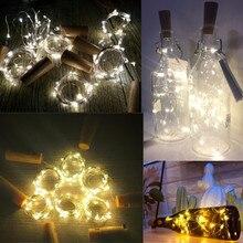 2 м светодиодный гирлянда, гирлянда, сделай сам, сказочные огни для стеклянной бутылки, для рукоделия, на год, Рождество, День Святого Валентина, свадьбу, день рождения, вечеринку, украшение